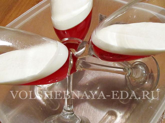 Как сделать красивое желе в стакане