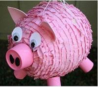 объемная поделка свинья своими руками папье-маше