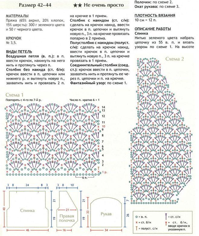 Вязание схемы крючком в