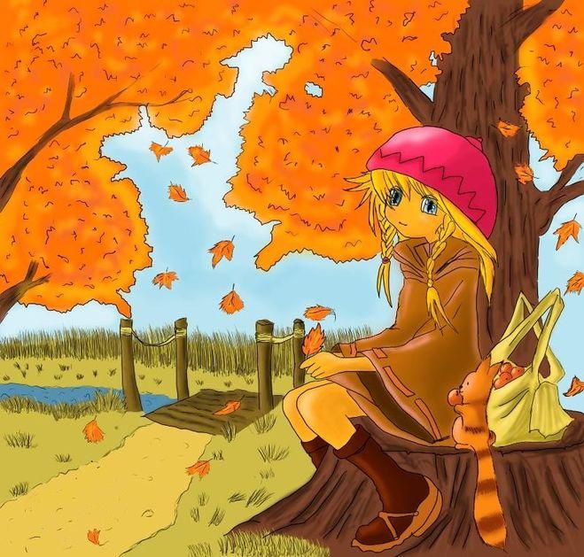 как рисовать осень