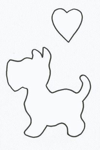 Шаблоны собачек для аппликации