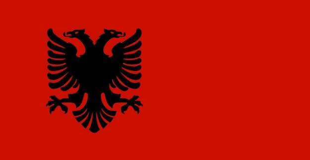 как выглядит флаг Албании