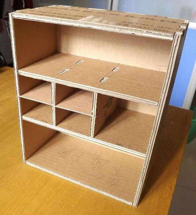 Как сделать мебель из картона своими руками схемы