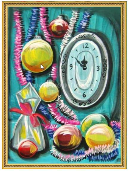 как нарисовать новогодние часы поэтапно мастер-класс для детей