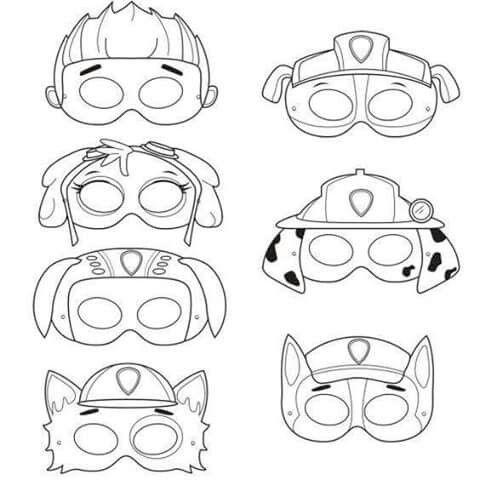маска собаки шаблоны