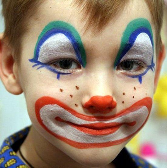 рисунки на лице детские поэтапно