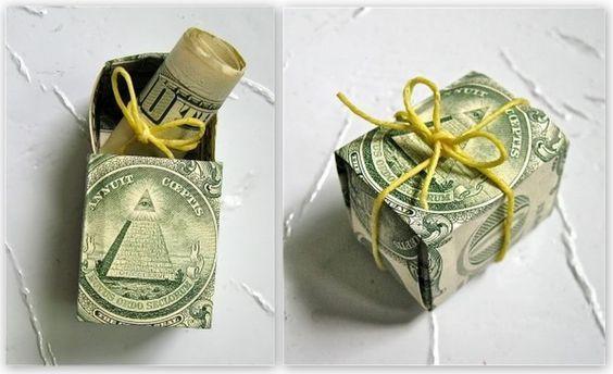 Оригинальные идея для подарка денег