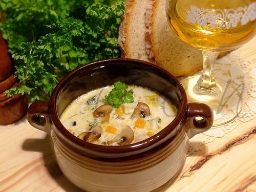 Суп-пюре из грибов с плавленным сыром рецепт пошагово