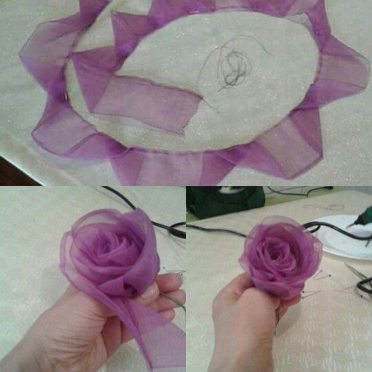 Как из бантика сделать цветок фото 685