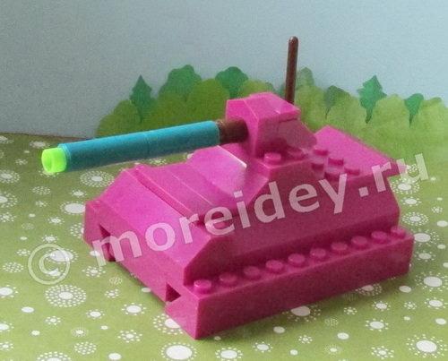 Как легко сделать танк из лего