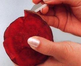 как сделать розу из свеклы пошаговая инструкция - фото 11