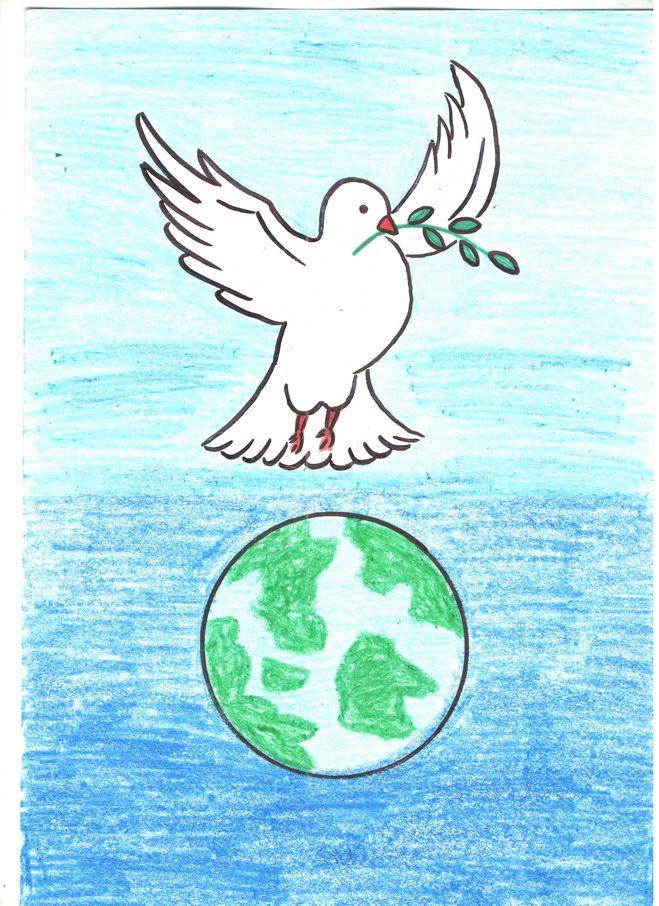 Рисунок на тему миру мир как рисовать
