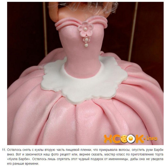 Рецепт торта куклы из мастики