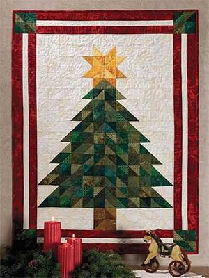 елка из ткани пэчворк