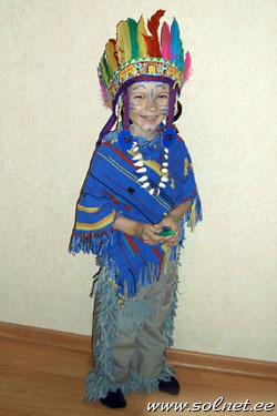 Головной убор индейца детский своими руками 30