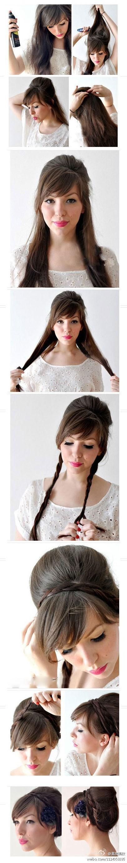 Как сделать себе прическу на средние волосы картинки