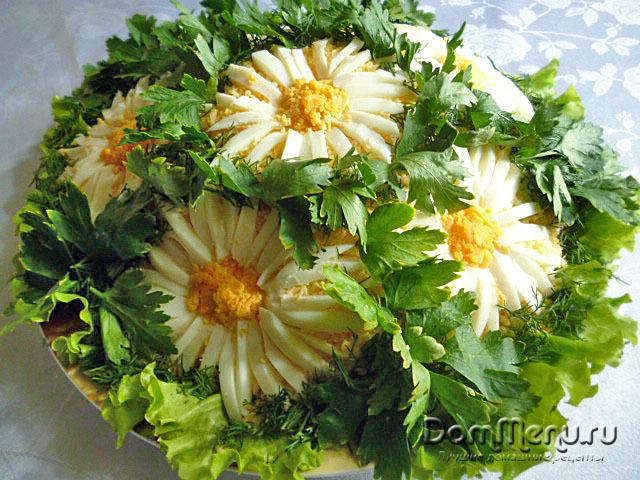 Рецепт салата с ромашками