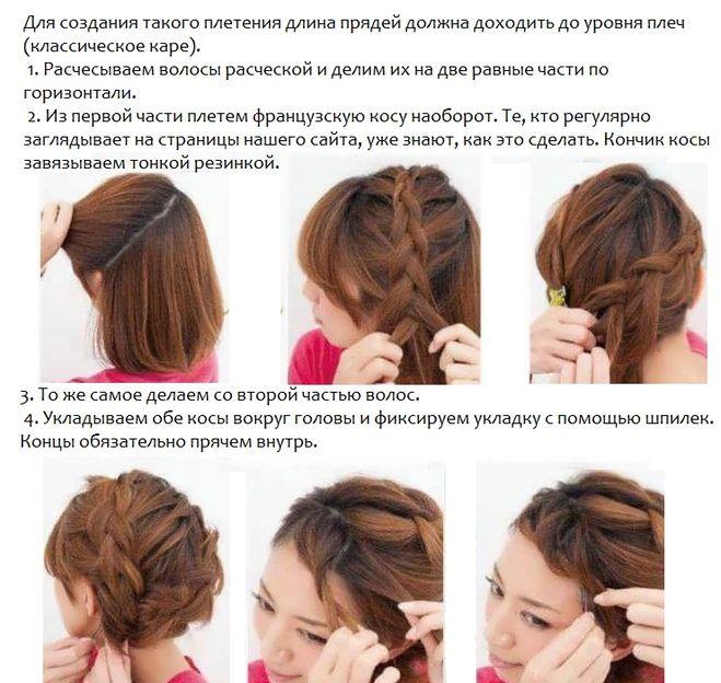Косы на тонкие волосы пошагово