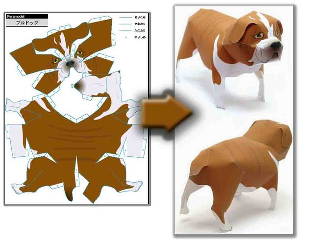 Животные из бумаги своими руками шаблоны