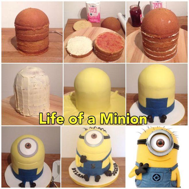 как сделать тортик миньона своими руками