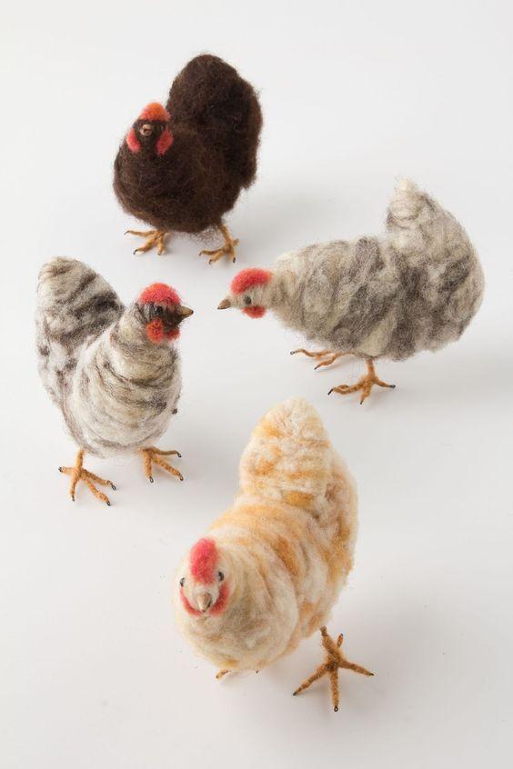 поделка курочка, цыпленок из шерсти, флиса