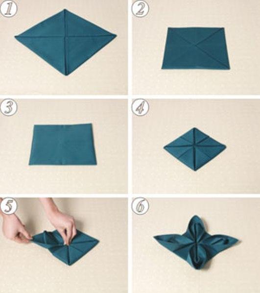 Салфетки бумажные для сервировки стола схемы