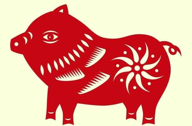 вытынанка кабан, свинья