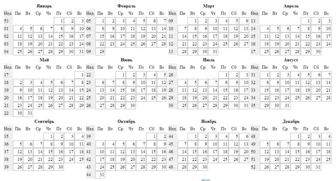 Календарь учителя на 16-17 год