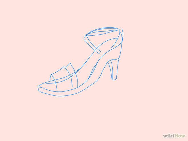 нарисовать туфли 4