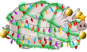 [свинья рисунок для Нового года 2019