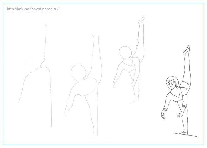Как нарисовать спортивную девушку