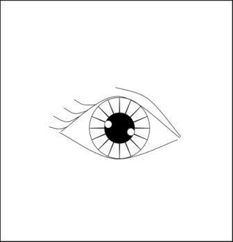 как рисовать глаз