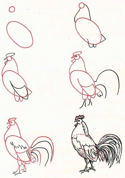 Поэтапное рисование символов