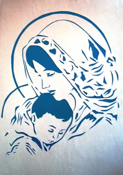 вытынанка мамка равно дитя, материнство