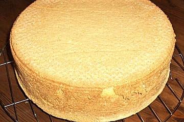При каком градусе выпекать бисквит