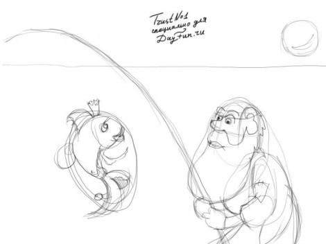 Как нарисовать сказку. Как нарисовать сказку Пушкина. Как нарисовать сказку о рыбаке и рыбке поэтапно