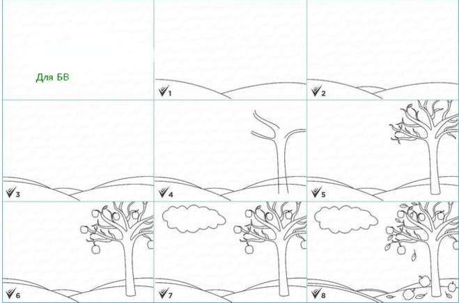 как нарисовать красоту осени