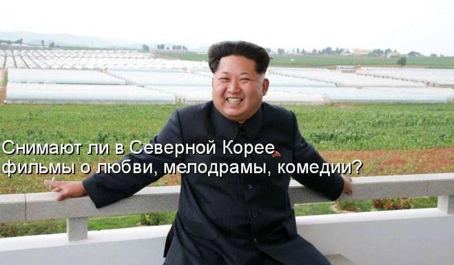 Снимают ли в Северной Корее фильмы о любви, мелодрамы, комедии?