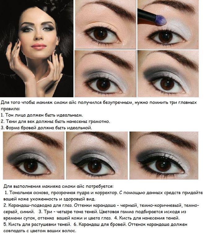 Как сделать макияж из черного карандаша