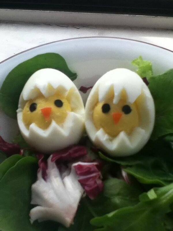 Картинки цыплёнка из варёного яйца