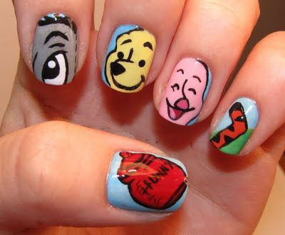 герои диснея рисунки на ногтях