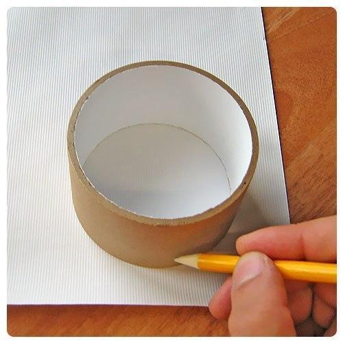Круглая коробка для цветов своими руками из картона