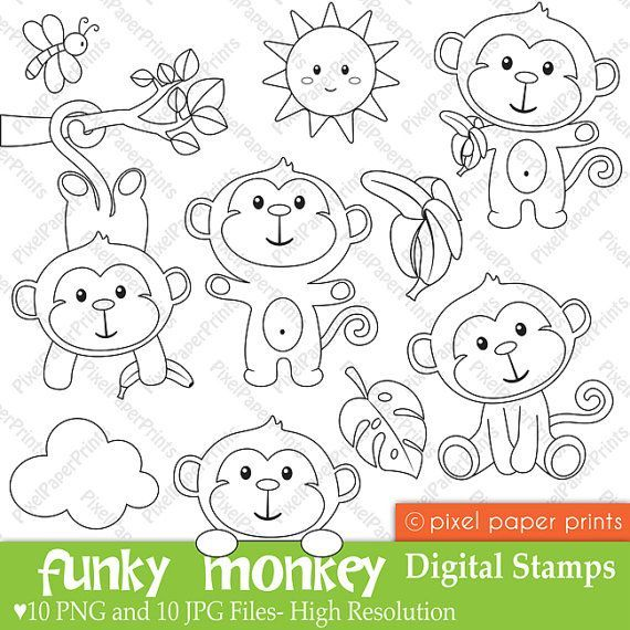 Шаблон обезьянка из бумаги своими руками на