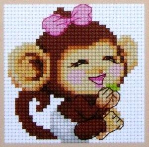 Вышивка крестом схемы обезьяна