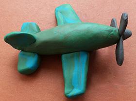 самолет из пластилина поэтапно на 23 февраля своими руками