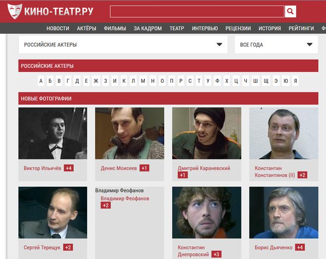 российские актёры с фото