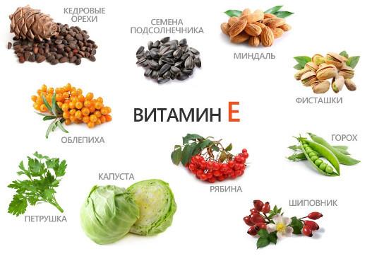 В каких продуктах витамин а и е