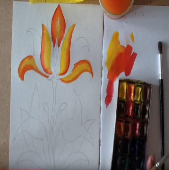 рисунок с сказке аленький цветочек