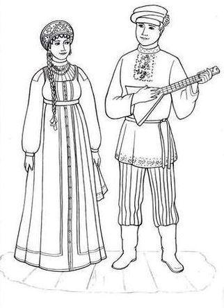 Как нарисовать женщину в русском народном костюме поэтапно карандашом  89e8624ef76b1