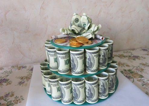 Как сделать своими руками торт из денег